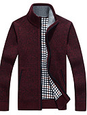 cheap Men's Jackets & Coats-Men's Weekend Long Sleeves Long Cardigan - Solid Colored Stand