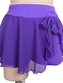 abordables Robe de Patinage-Robe de Patinage Artistique Femme Patinage Jupes Noir Rouge Violet Spandex Non Elastique Entraînement Compétition Tenue de Patinage Couleur Pleine Patinage sur glace Patinage Artistique