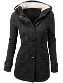 ieftine Palton & Trench de Damă-Pentru femei Guler Pe Gât Palton Casual - Mată, Stil modern