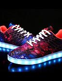 abordables Camisas y Camisetas para Mujer-Mujer Zapatos Tejido / PU Otoño / Invierno Suelas con luz / Zapatos con luz Zapatillas de deporte Tacón Bajo Dedo redondo Morado / Rojo /