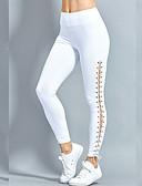 ieftine Leggings-Pentru femei Zilnic / Ieșire Culori Mate Legging - Mată, În Cruce Talie Medie / Sportiv / Look Sport / Subțire