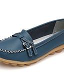 ieftine Blazer & Costume de Bărbați-Pentru femei Pantofi Piele Primăvară / Toamnă Confortabili Mocasini & Balerini Toc Drept Vârf rotund Cataramă Alb / Negru / Albastru