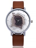 cheap Quartz Watches-Women's Wrist Watch Quartz Large Dial Leather Band Analog Casual Fashion Minimalist Black / White / Blue - Gray Brown Pink One Year Battery Life / SSUO CR2025