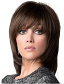 cheap Bras-Synthetic Wig Straight Layered Haircut Synthetic Hair Brown Wig Women's Medium Length Capless