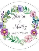 billige Bryllupskjoler-Blomst / Botanikk Hage Tema Blomster Tema Klistremerker, etiketter og tags - 10 Rund Kvadrat Sirkelformet Unik bryllupsdekor