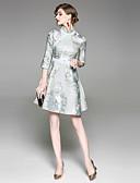 זול שמלות נשים-עומד סרוג - שמלה נדן סגנון סיני בגדי ריקוד נשים