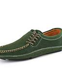 olcso Romantikus csipke-cipő Bőr Tavasz Ősz Kényelmes Papucsok & Balerinacipők mert Hétköznapi Fekete Zöld Kék