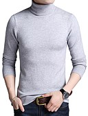 זול טרנינגים וקפוצ'ונים לגברים-צבע אחיד - סוודר שרוול ארוך גולף עבודה בגדי ריקוד גברים