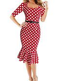 זול שמלות נשים-בגדי ריקוד נשים יום יומי / בסיסי מכנסיים - מנוקד מותניים גבוהים פול