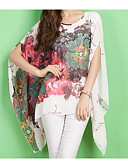 cheap Women's Blouses-Women's Street chic Batwing Sleeve Oversized Blouse - Floral Print / Spring / Summer