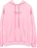 cheap Women's Hoodies & Sweatshirts-Women's Cotton Hoodie - Solid Colored Pink L / Fall