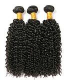 זול טרנינגים וקפוצ'ונים לגברים-3 חבילות שיער ברזיאלי Kinky Curly שיער אנושי טווה שיער אדם שוזרת שיער אנושי תוספות שיער אדם בגדי ריקוד נשים / קינקי קרלי
