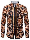 זול טרנינגים וקפוצ'ונים לגברים-פרחוני צווארון רחב רזה חולצה - בגדי ריקוד גברים דפוס / שרוול ארוך