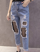 cheap Women's Pants-Women's Jeans Pants - Solid Colored Hole / Winter / Going out