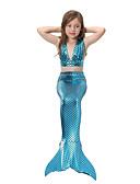 povoljno Majice za djevojčice-Djeca Djevojčice Aktivan Slatka Style Sport Plaža Rep sirene Mala sirena Jednobojni Mixed Color Bez rukávů Pamuk Kupaći kostim Fuksija