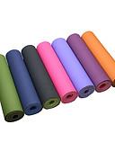 hesapli Dijital Saatler-Yoga Matı 183*61*0.6 cm Kokusuz, Çevre-dostu, Ekstra Kalın, Intranet Takviyesi, Yüksek Yoğunluklu, Yapışkan TPE Su Geçirmez, Non Toxic, Kaymaz İçin Pilates / Fitness / Bikram Yeşil, Pembe, Açık Mavi