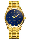 זול שעוני יוקרה-בגדי ריקוד גברים שעון יד Japanese שעונים יום יומיים מתכת אל חלד להקה יום יומי / אופנתי כסף / זהב