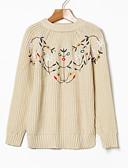 זול טישרט-פרחוני  בוטני - סוודר שרוול ארוך בגדי ריקוד נשים