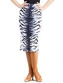 זול טרנינגים וקפוצ'ונים לגברים-ריקוד לטיני חלקים תחתונים בגדי ריקוד נשים ספנדקס Chinlon דוגמא \ הדפס טבעי חצאיות