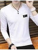 זול חולצות לגברים-דפוס צווארון עגול טישרט - בגדי ריקוד גברים