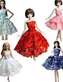 ieftine Cortine duș-Petrecere/Seară Rochii Pentru Barbie Doll Dantelă Satin Rochie Pentru Fata lui păpușă de jucărie