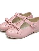 זול סוודרים וקרדיגנים לגברים-בנות נעליים PU אביב קיץ נעליים לילדת הפרחים / עקבות זעירים עבור בני נוער עקבים ל שחור / אדום / ורוד