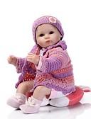 זול טרנינגים וקפוצ'ונים לגברים-NPK DOLL בובה מחדש תינוק 16 אִינְטשׁ סיליקון ויניל - כְּמוֹ בַּחַיִים Cute עבודת יד בטוח לשימוש ילדים Non Toxic חמוד הילד של יוניסקס / בנות צעצועים מתנות / אינטראקציה בין הורים לילד / CE / עור טבעי