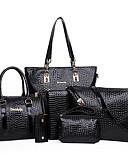 preiswerte Abendkleider-Damen Taschen PU Bag Set 6 Stück Geldbörse Set Reißverschluss Beige / Gelb / Fuchsia