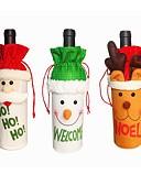 abordables Botellas de Regalo-3pcs Navidad ornamentos de Navidad, Decoraciones de vacaciones 26*13