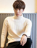 cheap Men's Sweaters & Cardigans-Men's Long Sleeve Pullover - Solid Colored Turtleneck