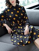 זול שמלות נשים-בגדי ריקוד נשים בסיסי מכנסיים - מנוקד שחור / צווארון חולצה