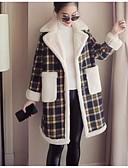 olcso Kabát & Viharkabát-V-alakú Női Kabát - Egyszínű, Túlméretezett Pamut