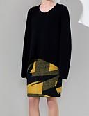 رخيصةأون تنانير نسائية-طباعة بلوك ألوان لون الصلبة - التنانير ضيق للمرأة
