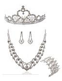 ieftine Rochii Plus Size-Pentru femei Set bijuterii - Diamante Artificiale European, Modă Include Tiare / Seturi de bijuterii de mireasă Alb Pentru Nuntă / Petrecere