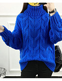 preiswerte Damen Pullover-Damen Langarm Pullover-Solide