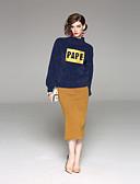 tanie Stylowe damskie płaszcze na zimę-Damskie Sweter Jendolity kolor Spódnica