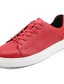זול טישרטים לגופיות לגברים-נעליים עור נאפה Leather אביב סתיו נוחות נעלי ספורט ל בָּחוּץ לבן שחור אדום