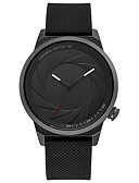 cheap Quartz Watches-CADISEN Women's Wrist Watch Japanese Quartz 30 m Water Resistant / Water Proof Casual Watch Cool Silicone Band Analog Fashion Black - Black Two Years Battery Life