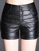 ieftine Pantaloni de Damă-Pentru femei Bumbac Pantaloni Scurți Pantaloni - Mată Negru