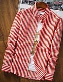 abordables Ropa de Cama de Mujer-Hombre Algodón Camisa A Rayas