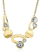 cheap Fashion Scarves-Women's Cubic Zirconia Pendant Necklace - Imitation Diamond Classic, Fashion Gold, Silver Necklace One-piece Suit For Daily