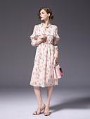 זול שמלות נשים-מידי פרחוני - שמלה נדן שיפון חמוד פעיל בגדי ריקוד נשים