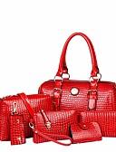 billige Modetørklæder-Tasker PU Taskesæt 6 stk. Taske sæt Knapper Beige / Gul / Rosa