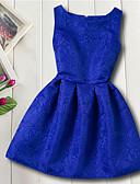 abordables Robes pour Filles-Enfants Fille Basique Quotidien Fleur Jacquard Sans Manches Rayonne Robe Rouge