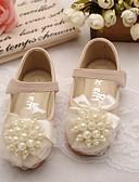 preiswerte Romantische Spitze-Mädchen Schuhe Künstliche Mikrofaser Polyurethan Frühling / Herbst Komfort / Schuhe für das Blumenmädchen Flache Schuhe für Beige / Rosa