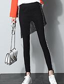 זול מכנסיים לנשים-בגדי ריקוד נשים סקיני מכנסיים - גיזרה גבוהה אחיד