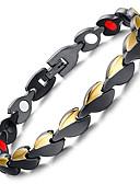 levne Pánské košile-Pánské Řetězové & Ploché Náramky Náramek s hologramem Magnetický náramek Náramky Šperky Černá Pro Ležérní Denní