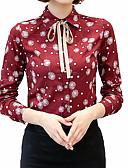 זול טרנינגים וקפוצ'ונים לנשים-פרחוני צווארון חולצה סגנון רחוב עבודה חולצה - בגדי ריקוד נשים פפיון