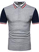 זול חולצות פולו לגברים-צווארון חולצה סגנון רחוב Polo-בגדי ריקוד גברים