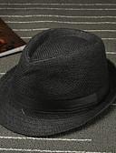 זול כובעים אופנתיים-חום לבן שחור חום בהיר כובע שמש כותנה קיץ יום יומי